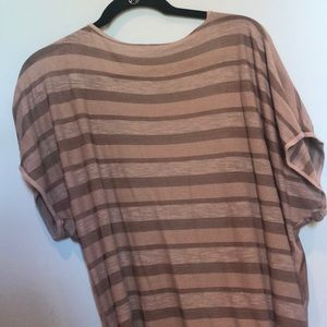 Hard Tail Forever grey tan striped wrap top